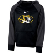 Nike Youth Missouri Tigers Black Therma Color Block Hoodie