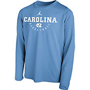 Jordan Youth North Carolina Tar Heels Carolina Blue Legend Basketball Long Sleeve Tee