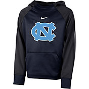 Nike Youth North Carolina Tar Heels Navy Therma Color Block Hoodie