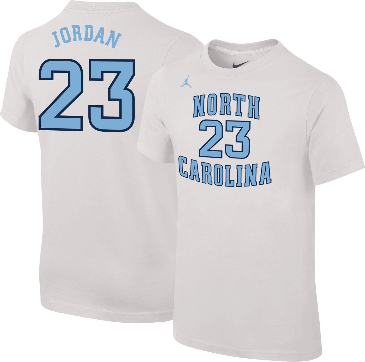 Jordan Youth North Carolina Tar Heels Michael Jordan #23 Future Star Replica Basketball Jersey White T-Shirt