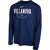 Nike Youth Villanova Wildcats Navy Legend Basketball Long Sleeve Tee
