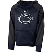 Nike Youth Penn State Nittany Lions Blue Therma Color Block Hoodie