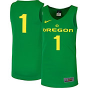 Nike Youth Oregon Ducks #1 Green Replica ELITE Basketball Jersey