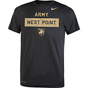 Nike Youth Army West Point Black Knights Dri-FIT Legend Lift Football Army Black T-Shirt