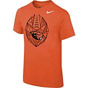 Nike Youth Oregon State Beavers Orange Football Icon T-Shirt