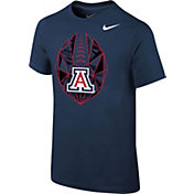 Nike Youth Arizona Wildcats Navy Football Icon T-Shirt