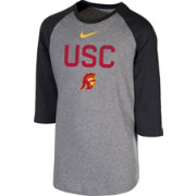 Nike Youth USC Trojans Grey 3/4 Sleeve  Raglan T-Shirt