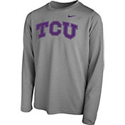 Nike Youth TCU Horned Frogs Grey Legend Core Long Sleeve Shirt