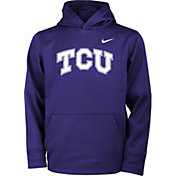 Nike Youth TCU Horned Frogs Purple Therma Logo Hoodie