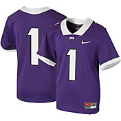 Nike Youth TCU Horned Frogs #1 Purple Game Football Jersey
