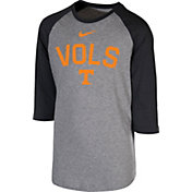 Nike Youth Tennessee Volunteers Grey 3/4 Sleeve  Raglan T-Shirt