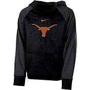 Nike Youth Texas Longhorns Black Therma Color Block Hoodie