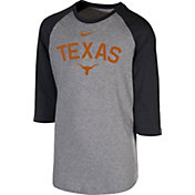 Nike Youth Texas Longhorns Grey 3/4 Sleeve  Raglan T-Shirt