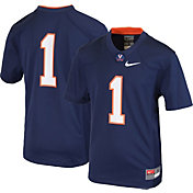 Nike Youth Virginia Cavaliers #1 Blue Game Football Jersey