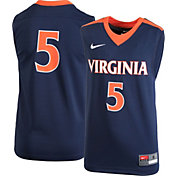 Nike Youth Virginia Cavaliers #5 Blue Replica Basketball Jersey