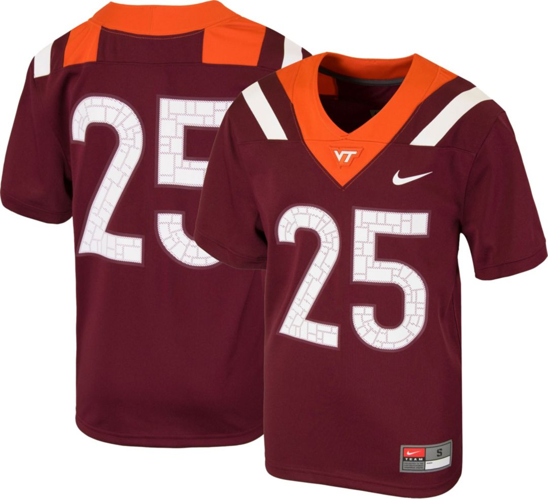 new product 899cf c7315 Nike Youth Virginia Tech Hokies #25 Maroon Game Football Jersey