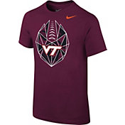 Nike Youth Virginia Tech Hokies Maroon Football Icon T-Shirt