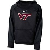 Nike Youth Virginia Tech Hokies Anthracite Therma Color Block Hoodie