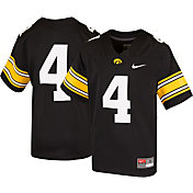 Nike Youth Iowa Hawkeyes #4 Game Football Black Jersey