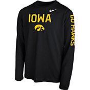 Nike Youth Iowa Hawkeyes Legend Core Black Long Sleeve Shirt