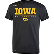 Nike Youth Iowa Hawkeyes Legend Basketball Black T-Shirt