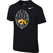 Nike Boys' Iowa Hawkeyes Football Icon Black T-Shirt
