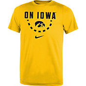 Nike Youth Iowa Hawkeyes Gold Mantra Basketball T-Shirt