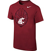 Nike Youth Washington State Cougars Crimson Football Icon T-Shirt