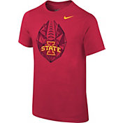 Nike Youth Iowa State Cyclones Cardinal Football Icon T-Shirt