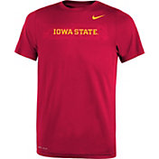 Nike Youth Iowa State Cyclones Cardinal Football Sideline Legend T-Shirt