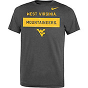 Nike Youth West Virginia Mountaineers Grey Dri-FIT Legend Lift Football T-Shirt