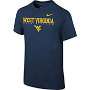 Nike Youth West Virginia Mountaineers Blue Football Dri-FIT Facility T-Shirt