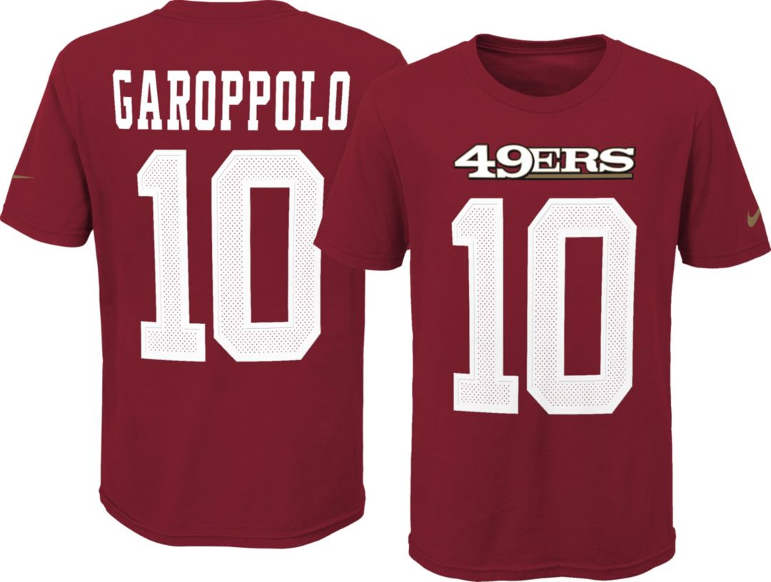 quality design 7d53a 045bf Nike Youth San Francisco 49ers Jimmy Garoppolo #10 Pride Red T-Shirt