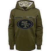 Nike Youth Salute to Service San Francisco 49ers Therma-FIT Olive Performance Hoodie