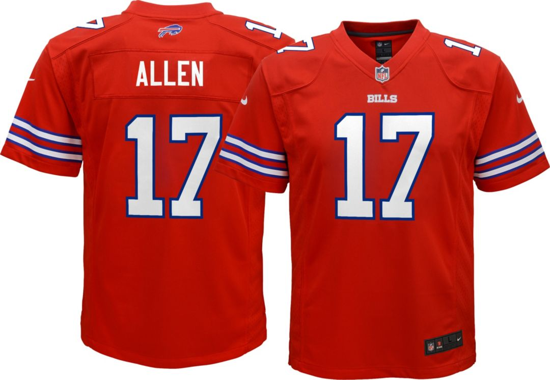the latest 4946d 2c1fd Nike Youth Color Rush Game Jersey Buffalo Bills Josh Allen #17