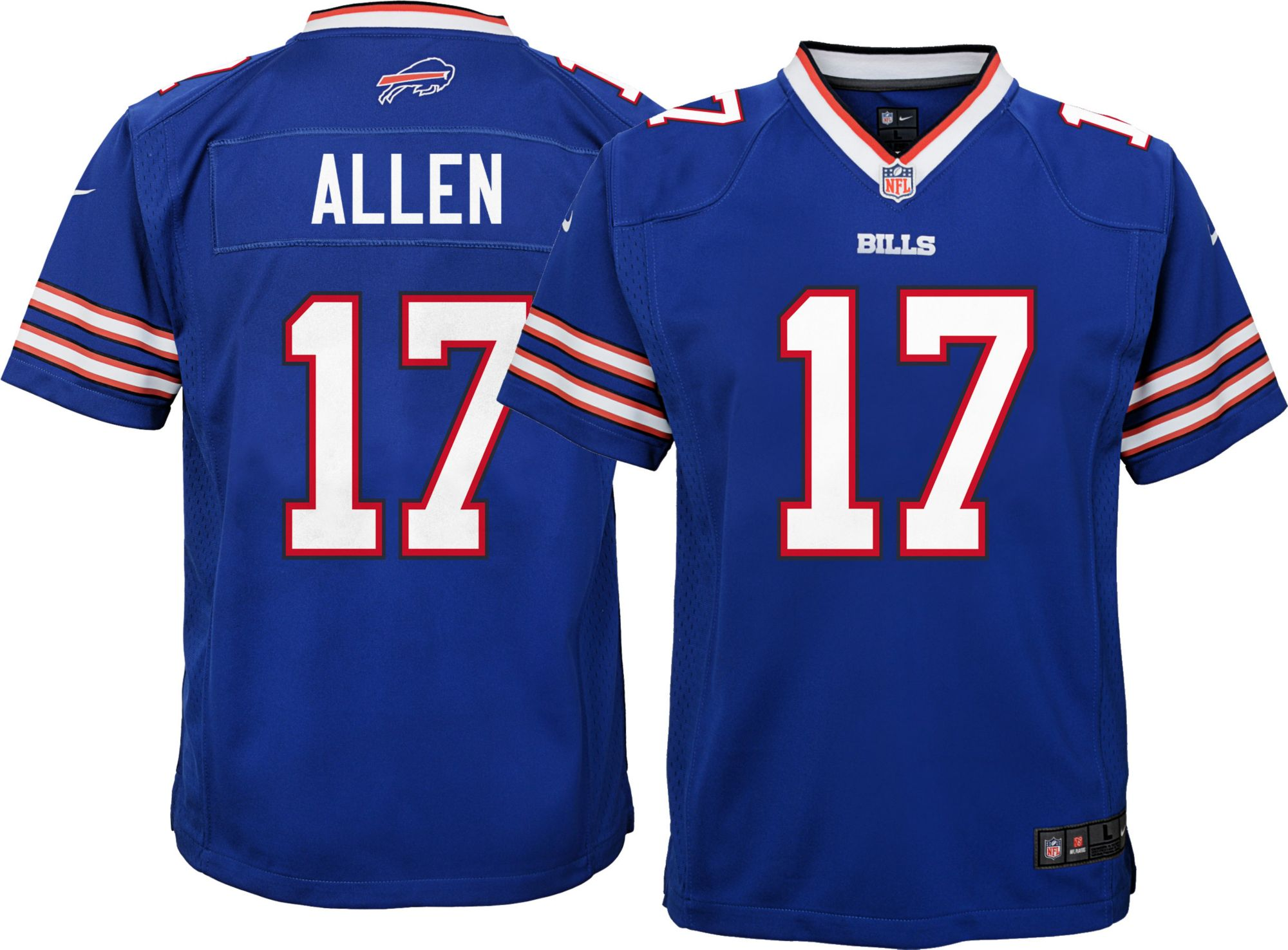 545441890 Josh Allen  17 Nike Youth Buffalo Bills Home Game Jersey