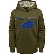Nike Youth Salute to Service Buffalo Bills Therma-FIT Olive Performance Hoodie
