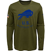 Nike Youth Salute to Service Buffalo Bills Legend Long Sleeve Olive Shirt