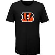 Nike Youth Cincinnati Bengals Essential Logo Performance Black T-Shirt