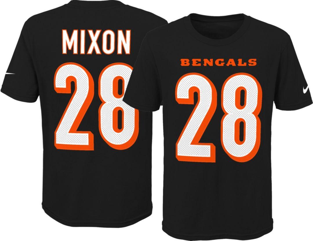 size 40 4e548 3a4de Nike Youth Cincinnati Bengals Joe Mixon #28 Black T-Shirt