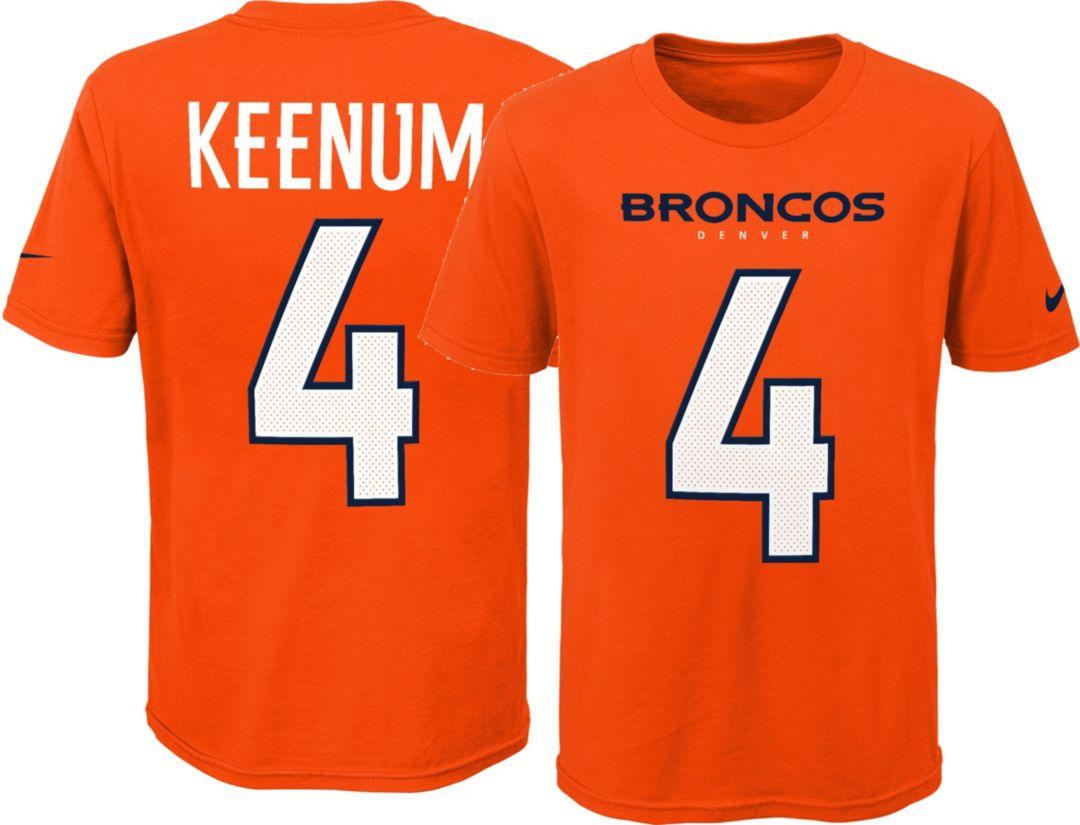 4644c8df54d Nike Youth Denver Broncos Case Keenum #4 Pride Orange T-Shirt ...