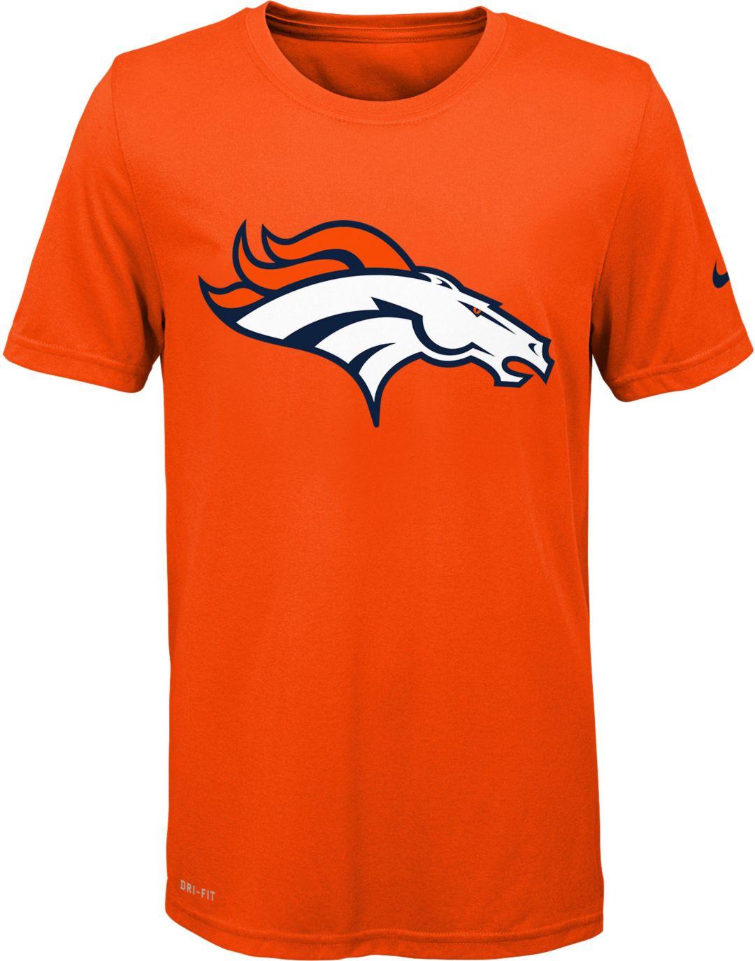 official photos 01485 773bd Nike Youth Denver Broncos Essential Logo Performance Orange T-Shirt