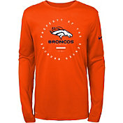 Nike Youth Denver Broncos Property Of Long Sleeve Orange Shirt