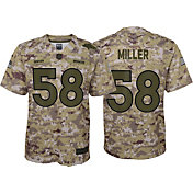 Nike Youth Salute to Service Denver Broncos Von Miller #58 Camouflage Home Game Jersey
