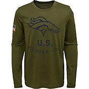 Nike Youth Salute to Service Denver Broncos Legend Long Sleeve Olive Shirt