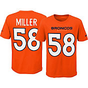Nike Youth Denver Broncos Von Miller #58 Pride Orange T-Shirt