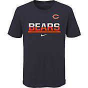 NFL Team Apparel Youth Chicago Bears Team Practice Navy T-Shirt