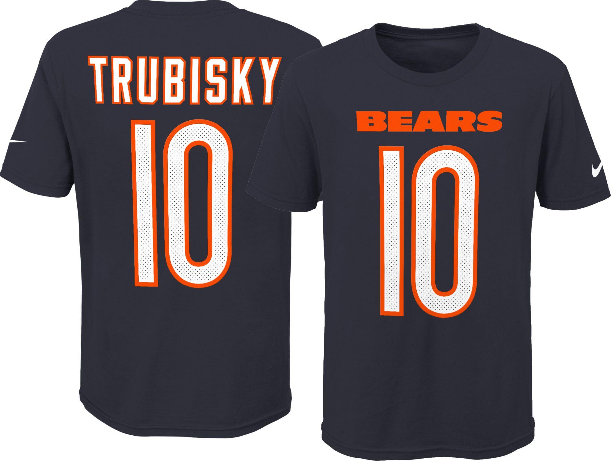 Nike Youth Chicago Bears Mitchell Trubisky  10 Pride Navy T-Shirt ... db57accb4