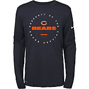 Nike Youth Chicago Bears Property Of Long Sleeve Navy Shirt