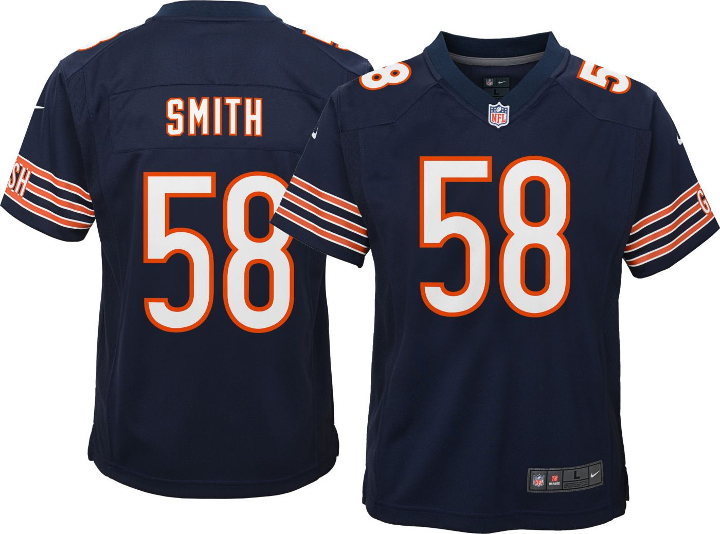 Nike Youth Home Game Jersey Chicago Bears Roquan Smith #58
